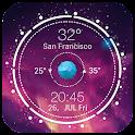 リアルタイム天気&時計ウィジェット icon