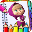 Learn to color Masha and Michka APK