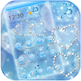 Blue Diamond Glitter Theme Wallpaper apk