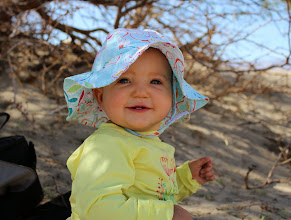 Photo: Phoebe during her first experience with sand dunes