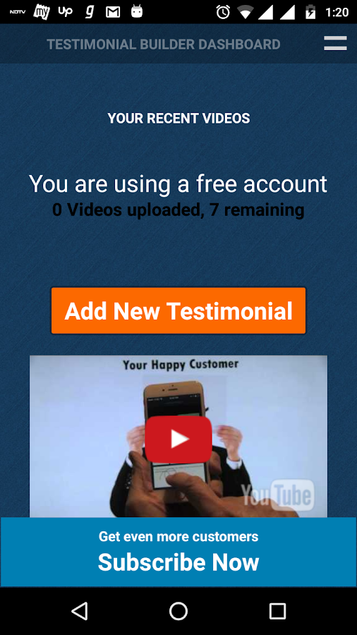 Testimonial Builder- screenshot
