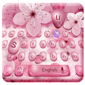 Cherry drops flower keyboard
