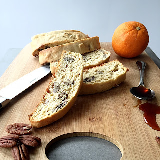 Biscotti with Pecans and Date Syrup