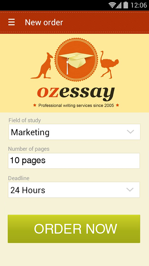 OzEssay- screenshot