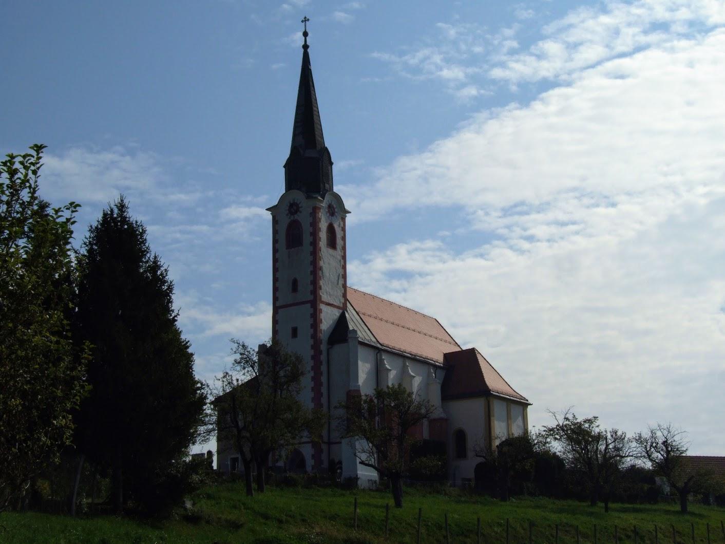 Maribor, Malečnik - Cerkev sv. Marije na Gorci (Szűz Mária templom a Gorca-dombon, 349 m)