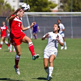 Heads UP! by Chris Pugh - Sports & Fitness Soccer/Association football ( action, header, soccer )