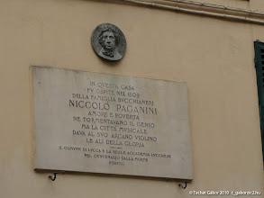 Photo: Paganini emléktábla