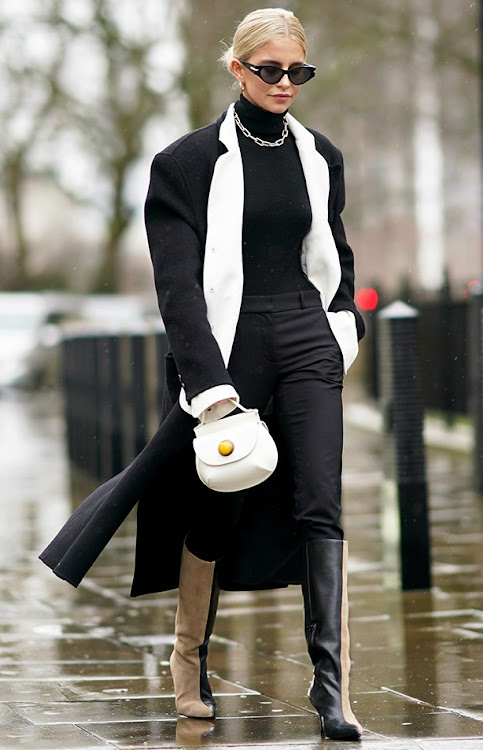 Caroline Daur wears monochrome ensemble at LFW 2020.
