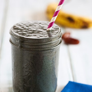 Blueberry Kale Smoothie.