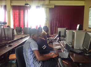 Photo: Students getting ready to code
