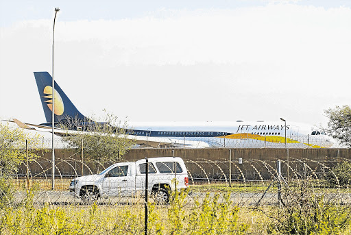 The Gupta familys' chartered aeroplane at Air Force Base Waterkloof.  File photo.