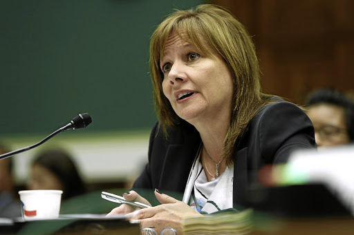 Confident:  General Motors CEO Mary Barra says that  net income should increase to  $6-$6.50 a share in 2017. Picture: REUTERS