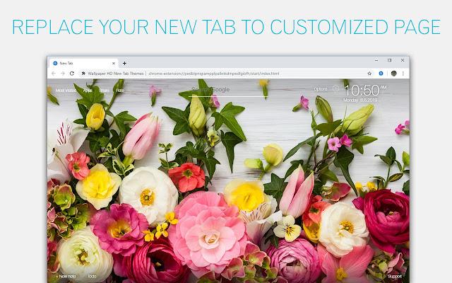 Flower Wallpapers Hd Flowers Custom New Tab