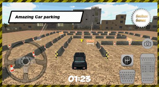 3D城市舊停車場