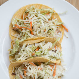 Grilled Fish Tacos & Slaw.