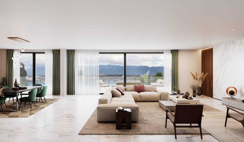 Appartement contemporain avec terrasse Cologny