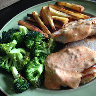 Creamy Ranch Pork Chops with Garlic Parsnip Fries