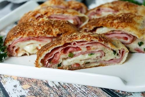 Ham and Swiss Stromboli