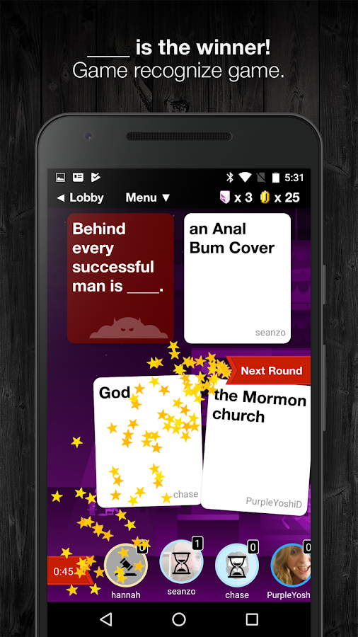 Evil Apples: A Dirty Card Game- screenshot
