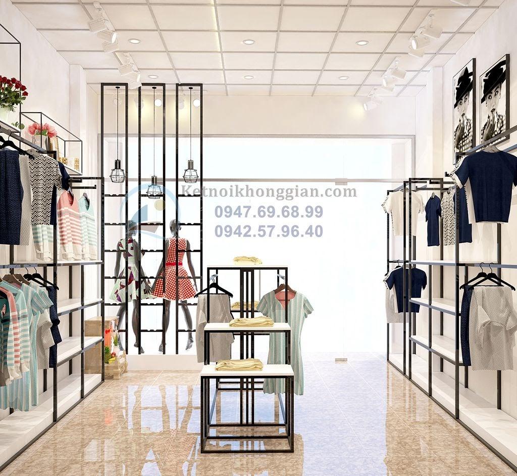 thiết kế cửa hàng thời trang nữ rộng 35m2