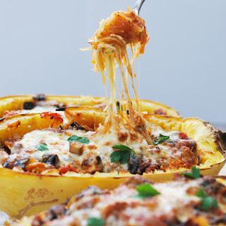 Mushroom & Kale Stuffed Spaghetti Squash Bowls
