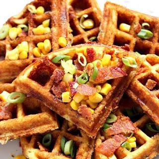 Cheddar Bacon Cornbread Waffles.