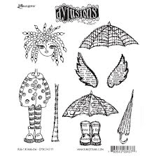 Dylusions Cling Stamps 8.5X7 - Ruby Rainbow