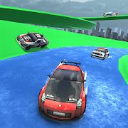 Water Slide Rally Car Race Uphill waterslide games
