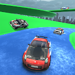 Water Slide Rally Car Race Icon