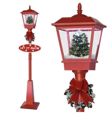 Snowing LED lantern 180cm design Tree red
