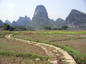 Photo: Walking back to Guilin