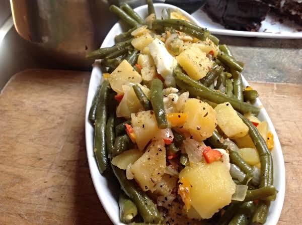 Vegetarian Green Beans W/sweet Peppers & Onions