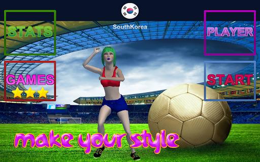 Asian Girl Sport Soccer Game