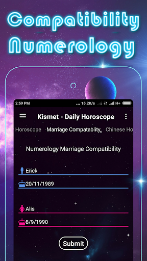 Kismet - Zodiac signs Daily Horoscope Astrology - screenshot