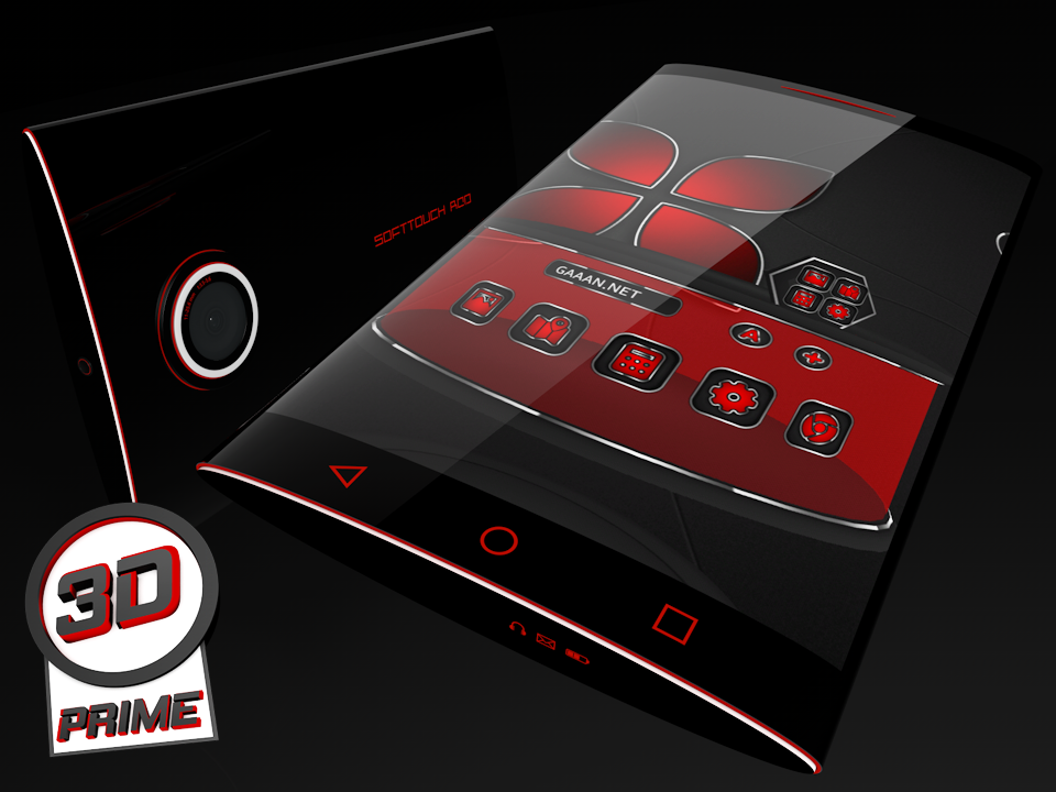 Soft Touch Red theme for Next Launcher (Prime)- screenshot