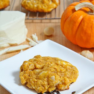 Pumpkin White Chocolate Chip and Macadamia Nut Cookies