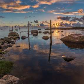 by Bent Velling - Landscapes Waterscapes ( canon, hvaler, water, clouds, reflections, 6d, norway, lee, benro, hard grad, sticks, 0.9, rocks )