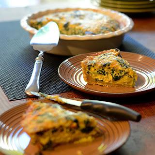 Spinach Mushroom & Cheese Quiche
