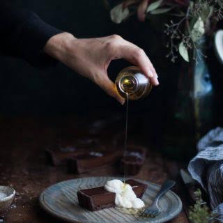 Chocolate Earl Grey Truffle Tart + Sea Salt & Olive Oil.