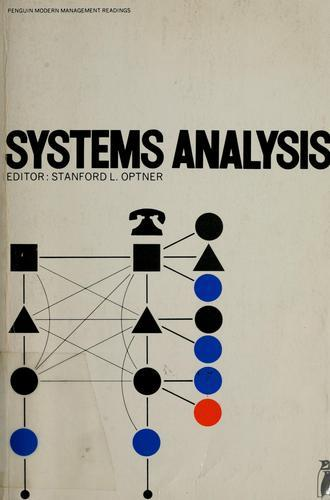 S. L. Optner. System Analysis for Business and Industrial Problem Solving.