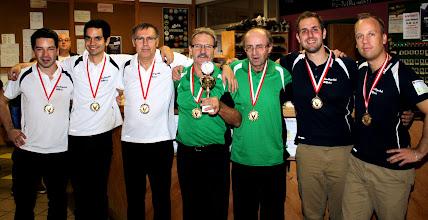 Photo: Doppel Herren 1. Kl. – die Sieger