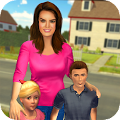 Virtual Mom Babysitter: Happy Family Fun Time