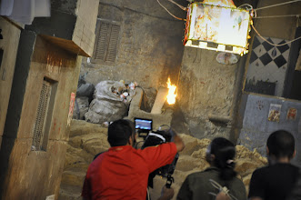 Photo: On the set of Rags & Tatters - Cairo 2013
