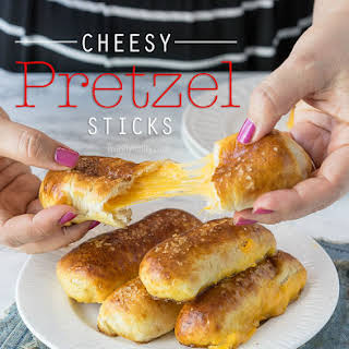 Cheesy Pretzel Sticks.