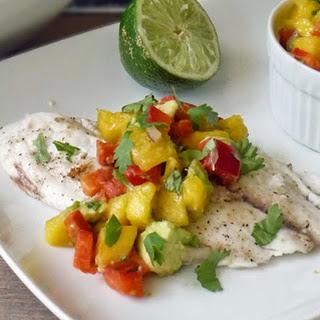 Tilapia and Mango Salsa.