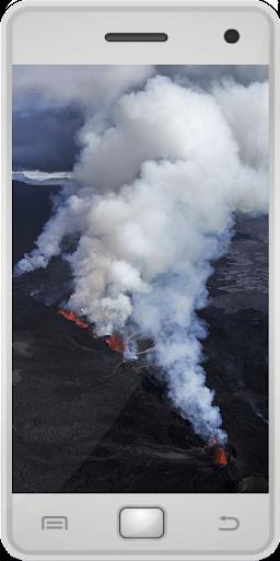 アイスランドの火山
