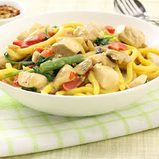 Chicken Satay with Noodles.