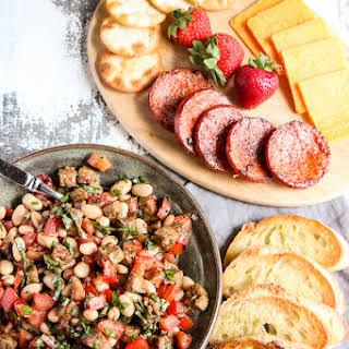 Italian Sausage and White Bean Bruschetta.