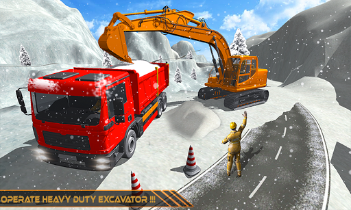 Snow Excavator Dredge Simulator - Rescue Game screenshot 1