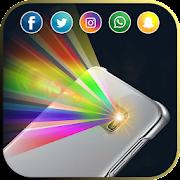 Color Flash Light Alert Call SMS